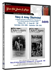 Navy and Army Illustrated Magazine Volumes VII - X Bundle