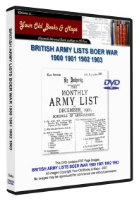 BOER CAMPAIGN ARMY LISTS COLLECTION 1900-1903