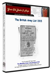 British Army List 1915 WW1