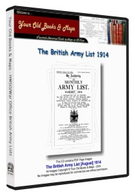 British Army List 1914 WW1
