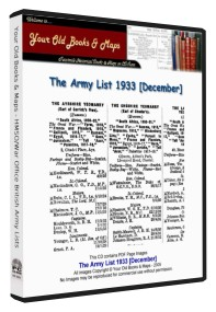 British Army List 1933
