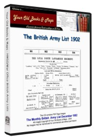 British Army List 1902 Boer War