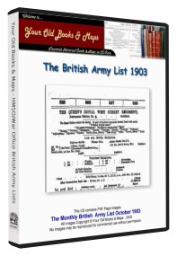 British Army List 1903 Boer War