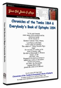 Chronicles of the Tombs & Select Epitaphs 1864