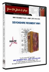 DEVONSHIRE REGIMENT WW1 1914-1918