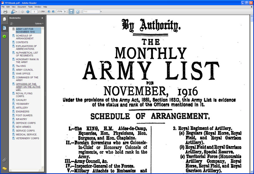 British Army List 1916