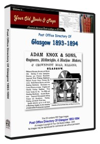 Glasgow Post Office Directory 1893 - 1894