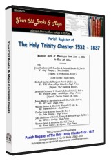 Parish Register Of The Holy Trinity Chester 1532 - 1837