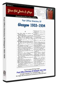 Glasgow Post Office Directory 1933 - 1934