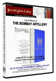 Officers of The Bombay Artillery 1902