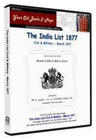 India List - Civil & Military 1877