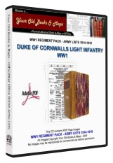 DUKE OF CORNWALLS LIGHT INFANTRY WW1 BRITISH ARMY LISTS